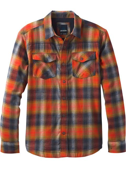 Prana M's Asylum Flannel LS Shirt Atomic Orange